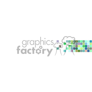 vector green faded pixel half banner background