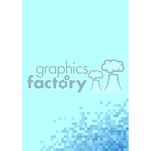shades of blue pixel vector brochure letterhead background template