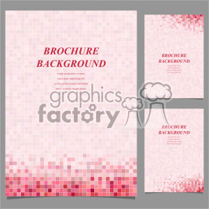 vector letter brochure template set 047 clipart. Royalty-free image # 402141