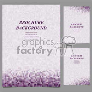 vector letter brochure template set 045 clipart. Royalty-free image # 402146