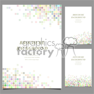 vector letter brochure template set 024 clipart. Commercial use image # 402161