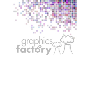 shades of purple pixel vector brochure letterhead document background top left corner template clipart. Commercial use image # 402171