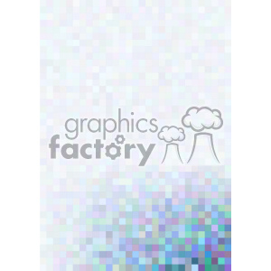blue gradient pixel pattern vector bottom right background template