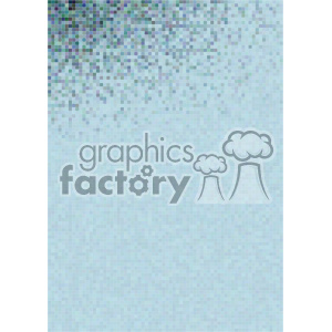 shades of gradient aqua pixel vector brochure letterhead document background top corner template clipart. Royalty-free image # 402196