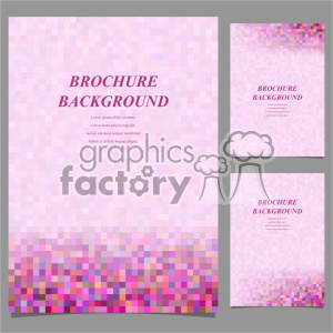 vector letter brochure template set 042 clipart. Commercial use image # 402206