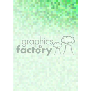 shades of green pixel pattern vector brochure letterhead top right background template clipart. Royalty-free image # 402226