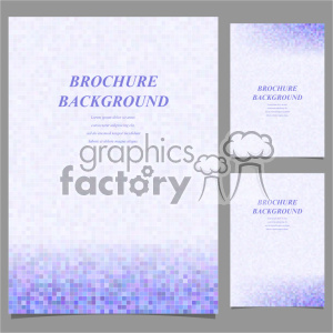 vector letter brochure template set 048 clipart. Royalty-free image # 402241