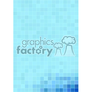 blue pixel pattern vector bottom corner background template