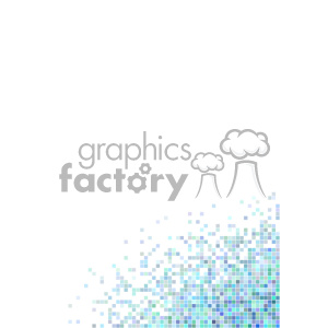shades of blue pixel vector brochure letterhead document bottom right background template clipart. Royalty-free image # 402271