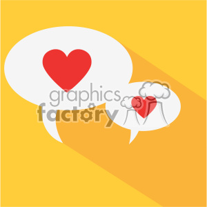 chatting hearts speak love flat design vector icon art clipart. Commercial use image # 402291