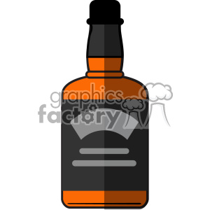 vector whiskey bottle flat design icon clipart. Royalty-free image # 402301