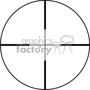 vector reticle aim sight standard crosshair image clipart. Royalty-free image # 402359