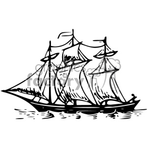 ship vintage 1900 vector art GF clipart. Commercial use image # 402564