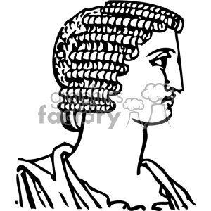 Grecian hair dressing man vintage 1900 vector art GF clipart. Royalty-free icon # 402574
