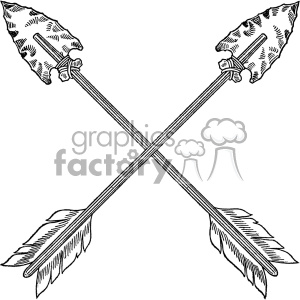 vintage crossed arrows vector vintage 1900 vector art GF clipart. Royalty-free image # 402594