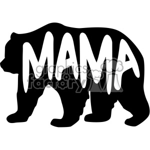 mama bear stencil vector svg cut files clipart. Commercial use image # 402614