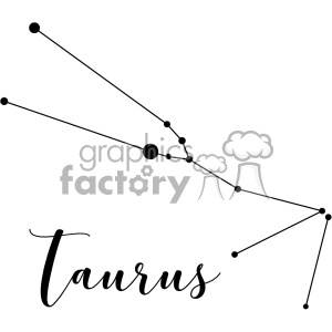 Constellations the Bull Taurus Tau Tauri vector art GF clipart. Royalty-free image # 402636