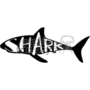 shark typography vector svg cut file dxf die cuts clip art clipart. Commercial use image # 402646