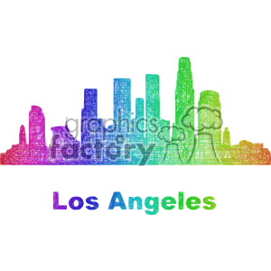 city skyline vector clipart USA Los Angeles clipart. Commercial use image # 402689