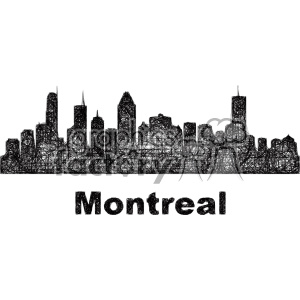 black and white city skyline vector clipart CAN Montreal clipart. Commercial use image # 402729