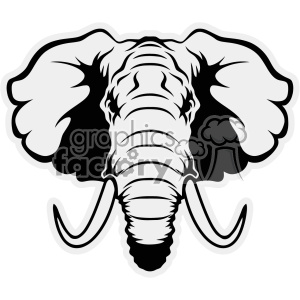 elephant head vector cut files clipart. Royalty-free image # 403031