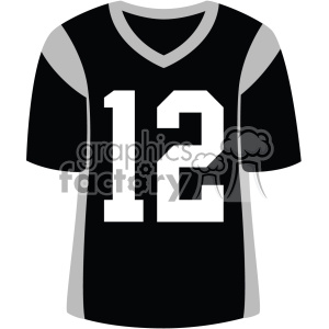 black football jersey vector svg cut files art clipart. Royalty-free image # 403061