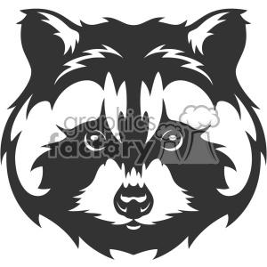 raccoon head vector art