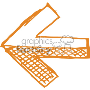 left sketch arrow vector art