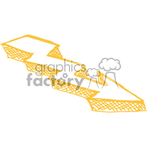 sketched right yellow arrow vector art clipart. Royalty-free image # 403272