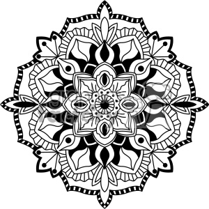 mandala geometric vector design 003 clipart. Royalty-free image # 403292