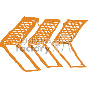 sketched back arrows vector art