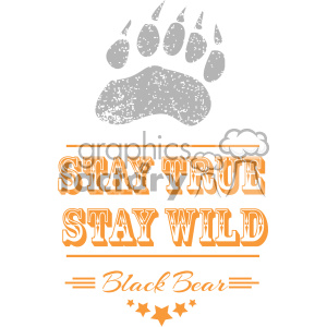 logo template bear paw stay+true stay+wild