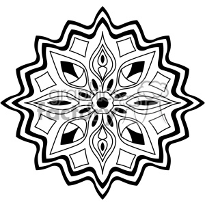 mandala geometric vector design 011 clipart. Royalty-free image # 403342