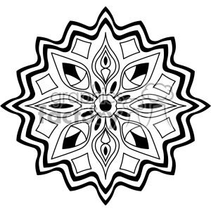 mandala geometric vector design 011