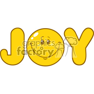 10844 Royalty Free RF Clipart Joy Yellow Logo With Smiley Face Cartoon Character Vector Illustration clipart. Royalty-free image # 403623