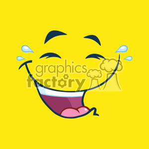 10878 Royalty Free RF Clipart Laugh Cartoon Funny Face With Smiley Expression Vector With Lemon Yellow Background clipart. Commercial use image # 403698