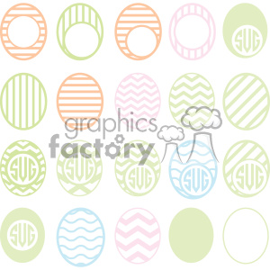 easter eggs svg cut file bundle clipart. Commercial use image # 403712