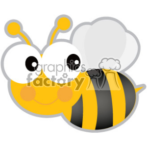 bee svg cut file clipart. Royalty-free image # 403732