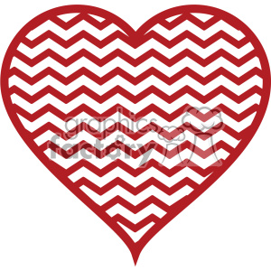 cut+files chevron heart love