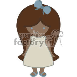 little girl svg cut file dxf vector clipart. Royalty-free image # 403780