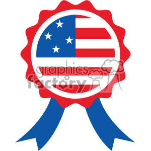 4th of july award ribbon vector icon