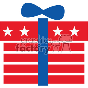 4th of july gift vector icon