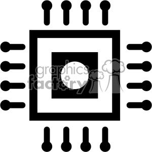 cpu mico processor icon clipart. Commercial use image # 403828