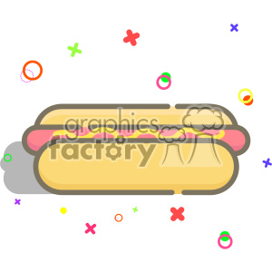 Hotdog vector clip art images clipart. Commercial use image # 403839