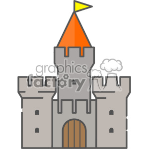 Castle clip art vector images clipart. Royalty-free image # 403897