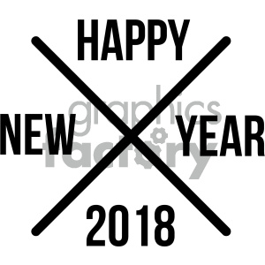 happy new year 2018 cross clipart. Commercial use image # 404017