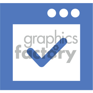 gui check vector icon clipart. Royalty-free image # 404060