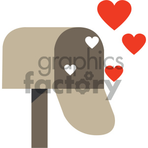 love letters mailbox icon clipart. Commercial use image # 404067