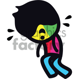 tired sticker character boy clipart. Royalty-free image # 404086