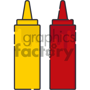 condiments vector art clipart. Royalty-free image # 404097